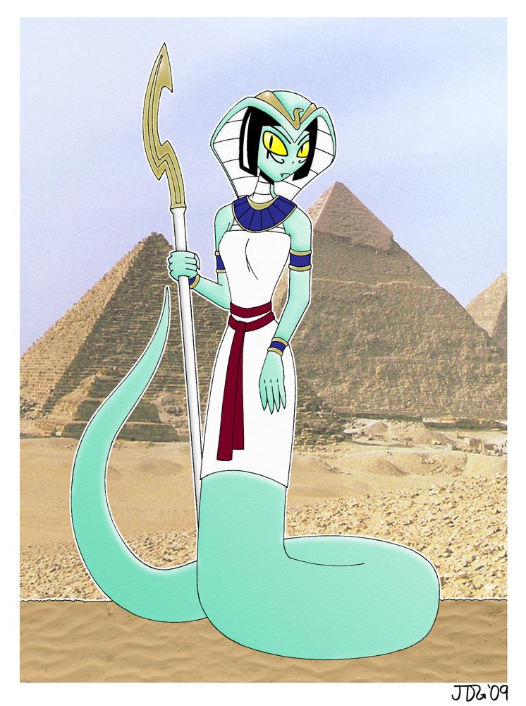 Egyptian Naga by Azadeth