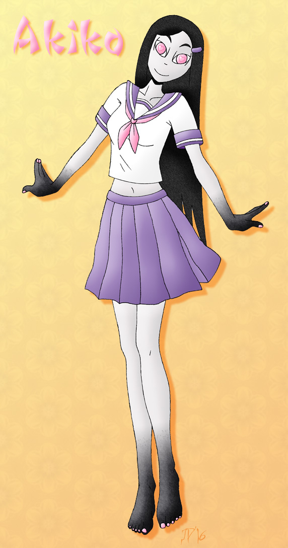 Akiko, cheery ghost girl by Azadeth