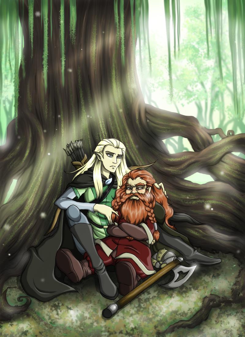 Commission: Legolas and Gimli by OneLovelySin on DeviantArt