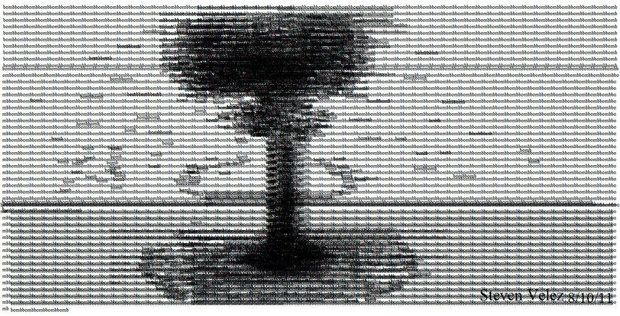 One Line Ascii Art For Texting : Bomb text art by stoyben on deviantart