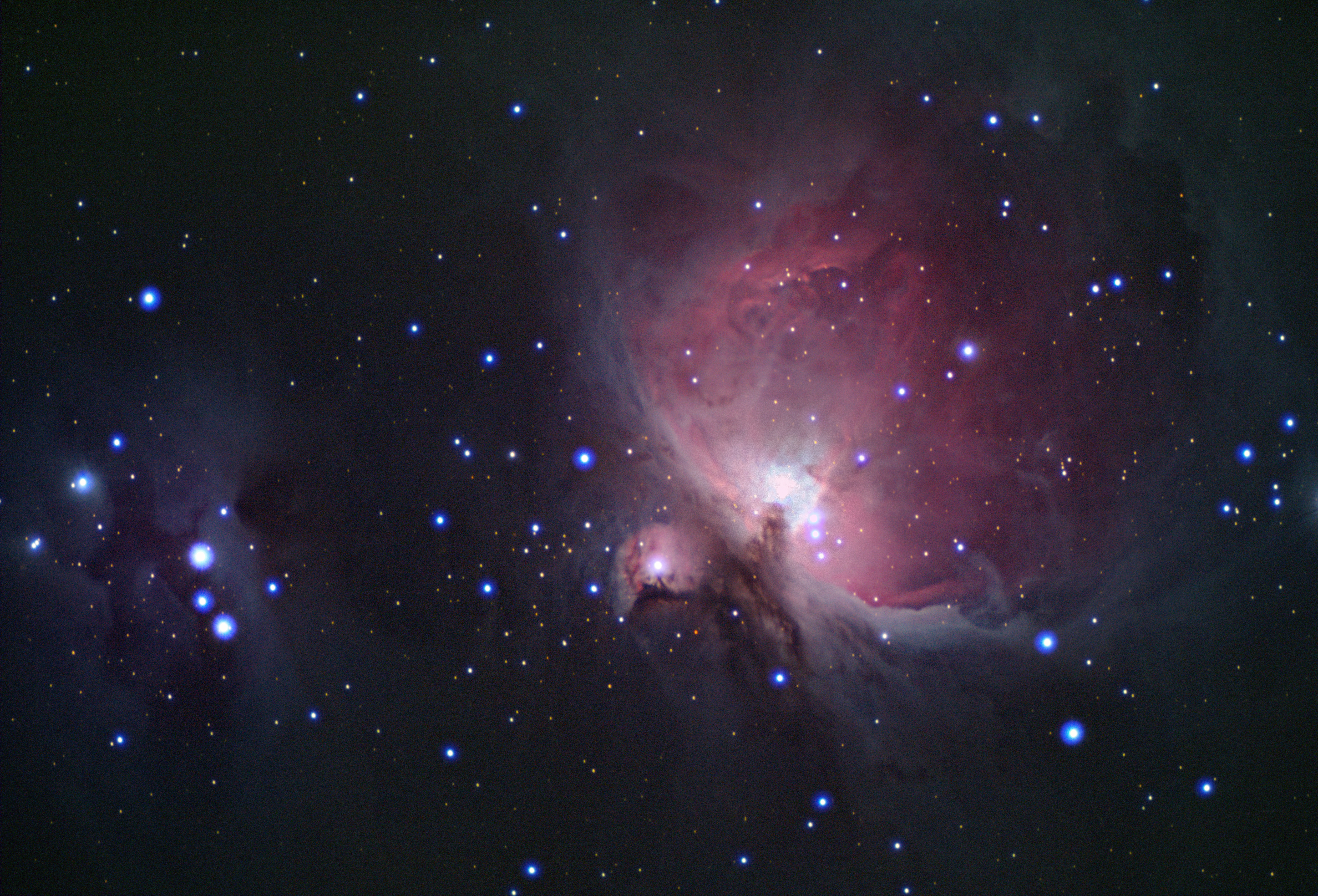 Orion Nebula Complex (M42 + NGC 1973/5/7) by RedXen