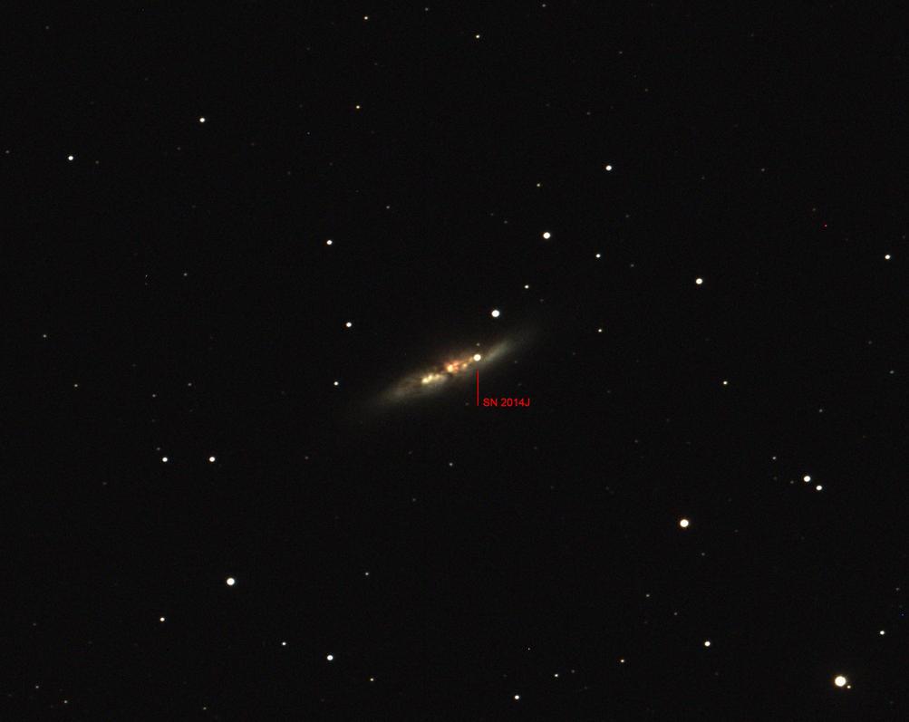M82 SN2014J Supernova by RedXen