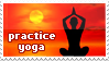 Yoga stamp by Vin3