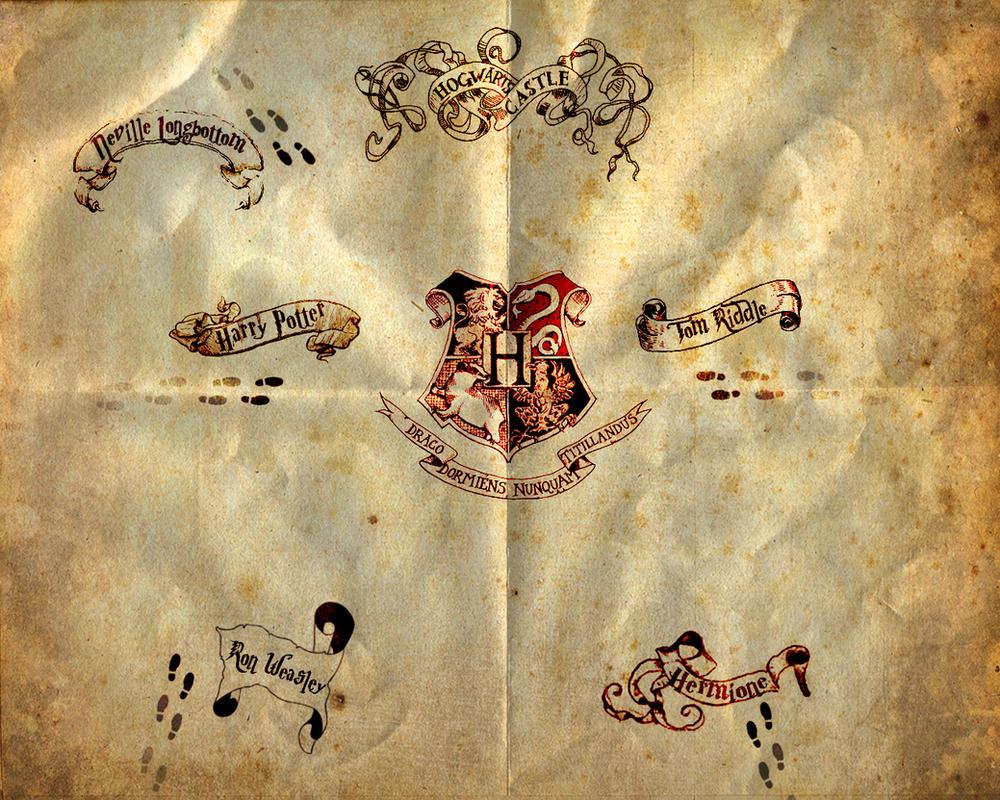 marauders map by Human-born-on-mars