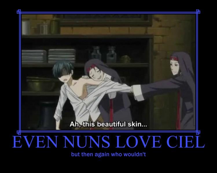 Even Nuns love Ciel by deathgirl88