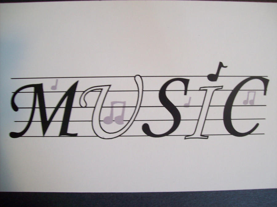 musicword art by silentxwolf on deviantart