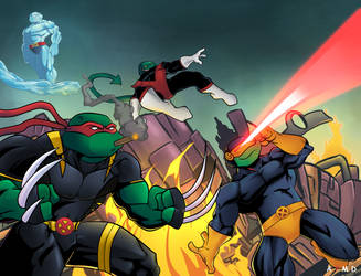Teenage Mutant X Turtles by a7md93