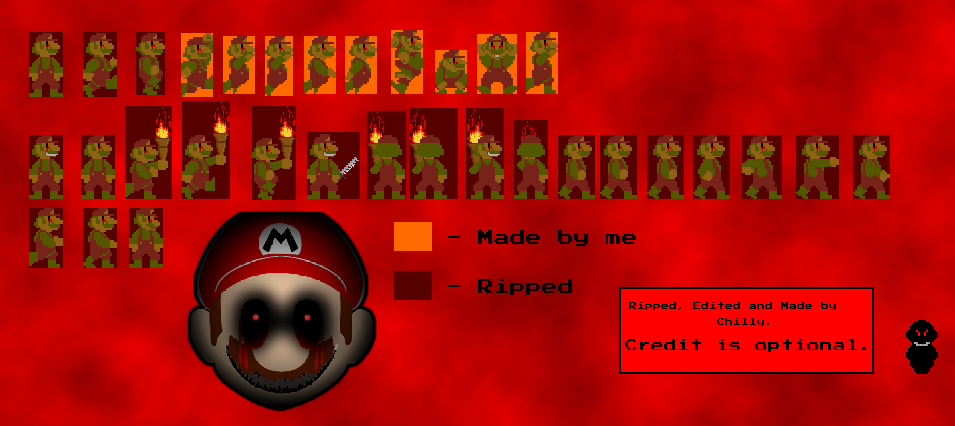 Mario exe Sprites by ChillyWilly2003 on DeviantArt