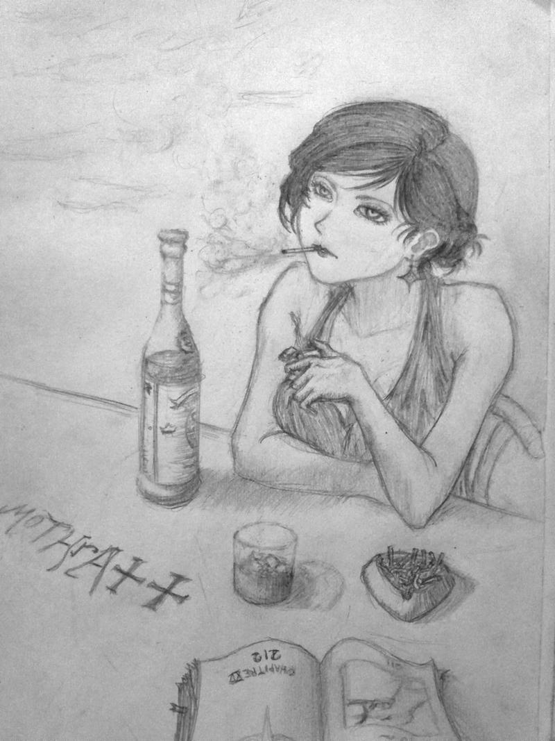 Women, Cigarettes, and Alcohols - Wine Blow [Origi by 4death-wish