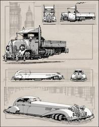 Dieselpunk Cars by RyanLovelock