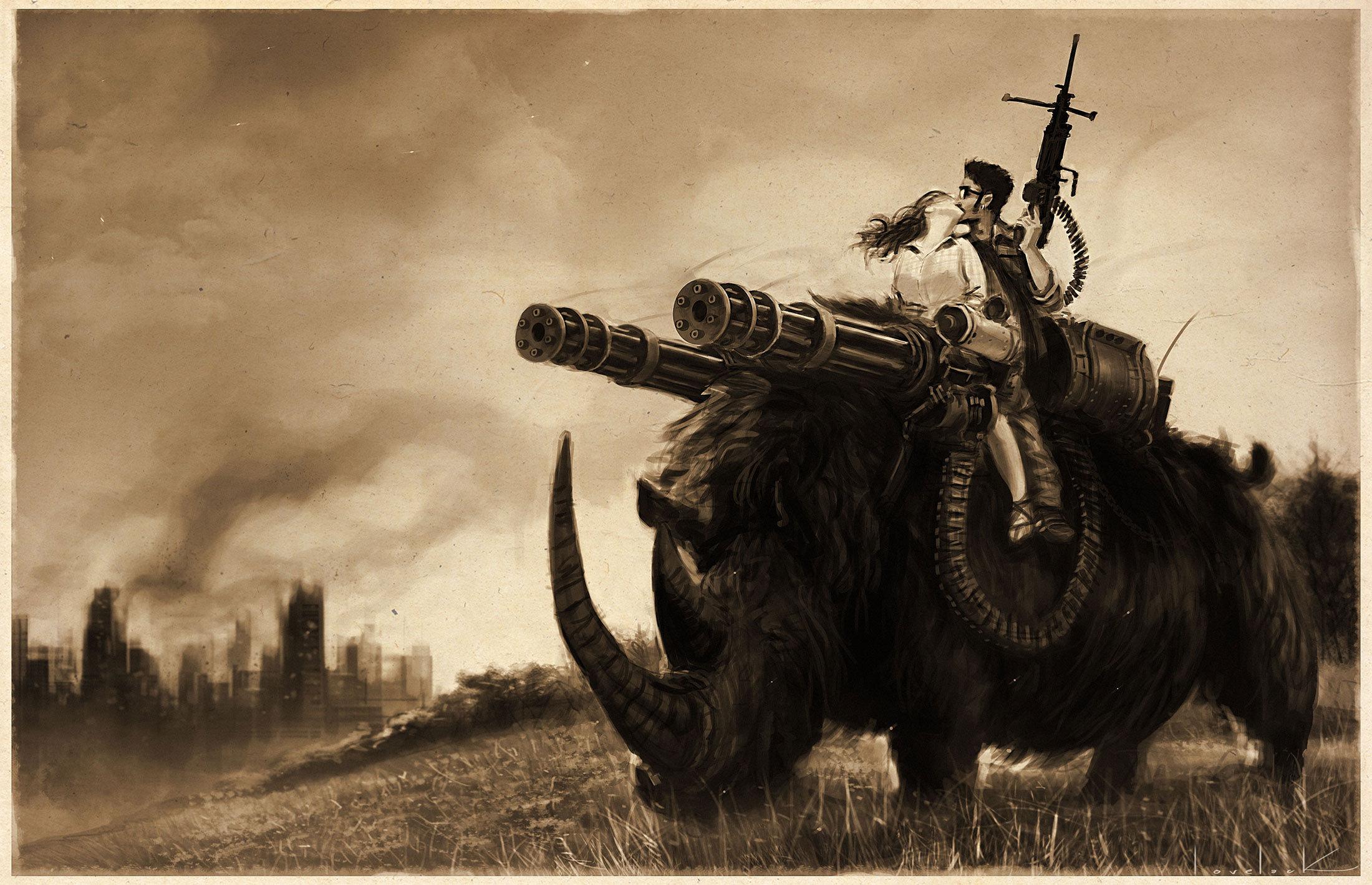 A Boy and his Rhino by RyanLovelock