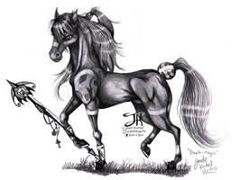 Realistic Dark-Magic The Magician Horse by Jade-Viper