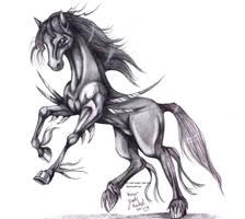 Realistic Razor The Blade Horse by Jade-Viper