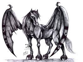 Realistic Gargon The Rock Pegasus by Jade-Viper