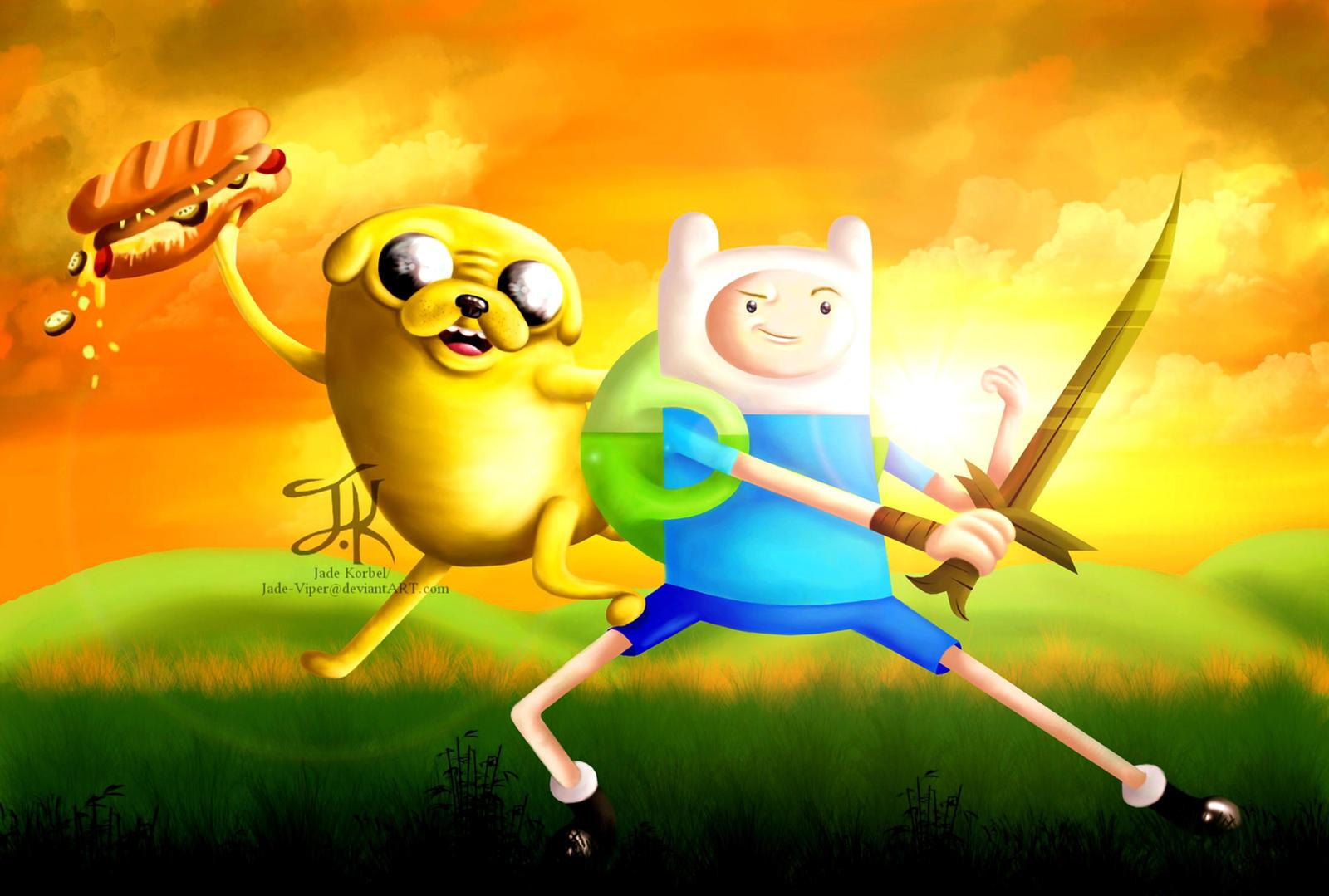 Finn and Jake by Jade-Viper