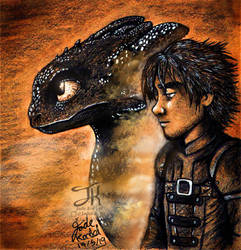 Toothless And Hiccup- Inseparable by Jade-Viper