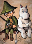 Snufkin and Moomintroll by Jade-Viper