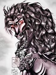 Daemon-Portrait Pencil Drawing 5 by Jade-Viper