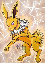 Jolteon- Thunderbolt by Jade-Viper