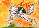 Okami: Amaterasu by Jade-Viper