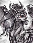 Daemon-Portrait Pencil Drawing 6