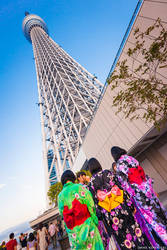 Kimono Girls of The SkyTree by RocknamLee