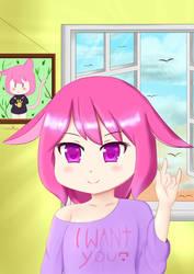 Neko on her room... by MoePlus