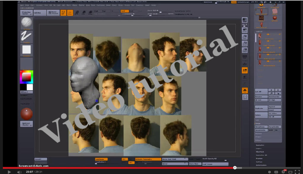 Sculpting the head video tutorial by VanLogan