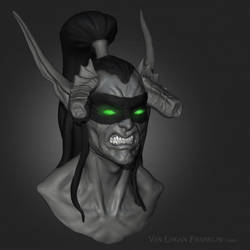 Illidan sketch by VanLogan