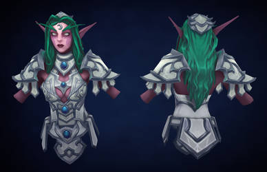 Tyrande Whisperwind fan art by VanLogan