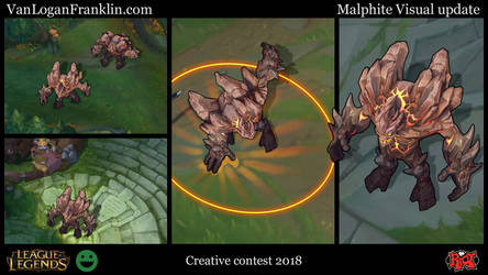 Riot Creative contest, Malphite Visual update by VanLogan