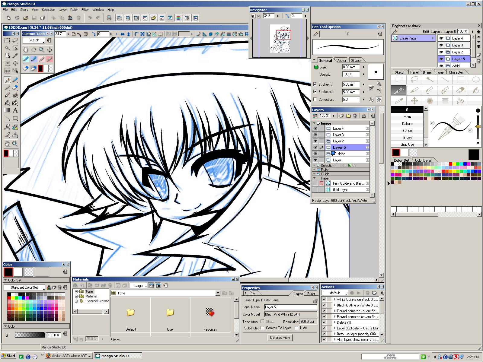 manga studio how to add a paper layer