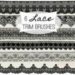 6 Lace Trim Photoshop Brushes