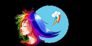 Rainbow Dash Human by Albablue