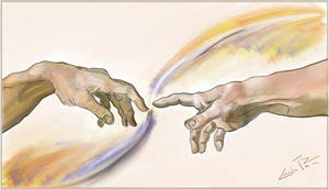 Copy of 'The Creation of Adam'