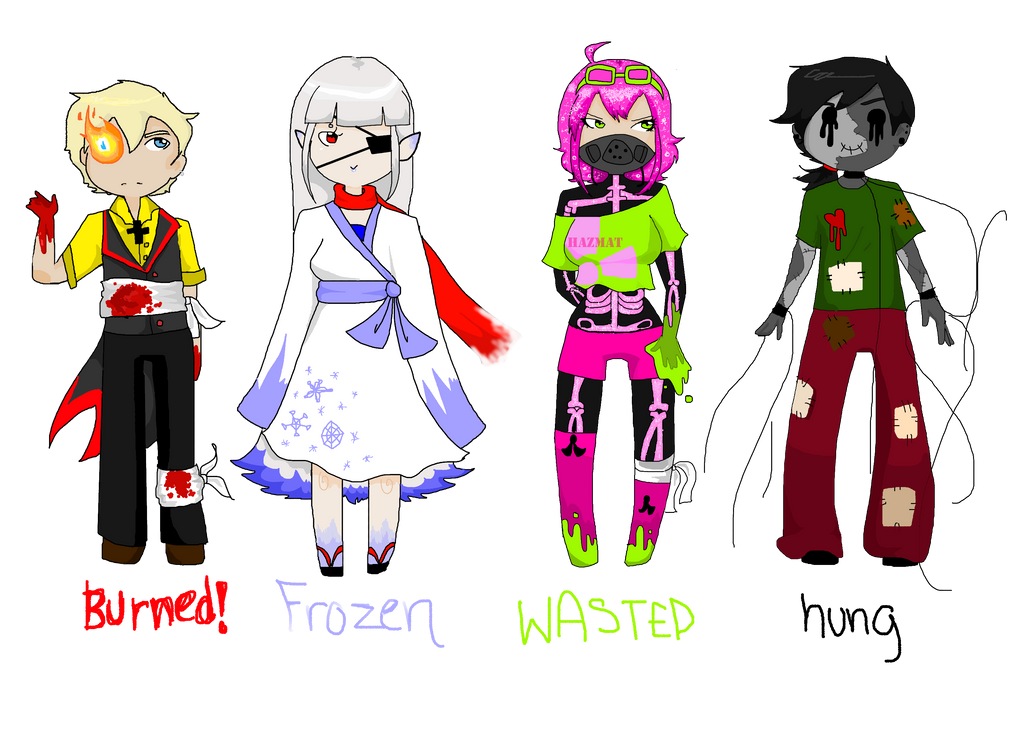Four Ways to Die Adoptables {CLOSED} by SweetlyViolent