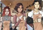 Coffee Shop Kids by SweetlyViolent