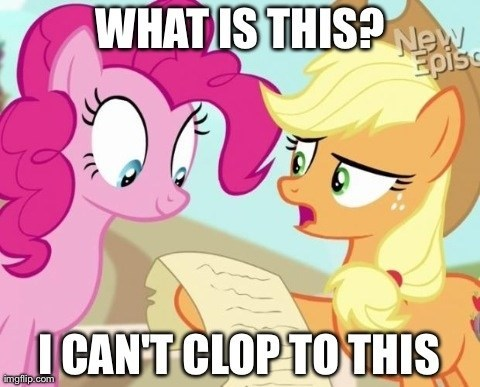 Applejack Clop Applejack can't clop by