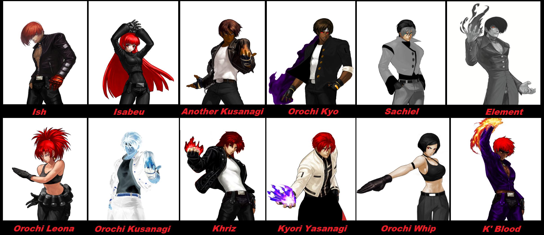 All Characters Mugen Kof Xiii By Orochidarkkyo On Deviantart
