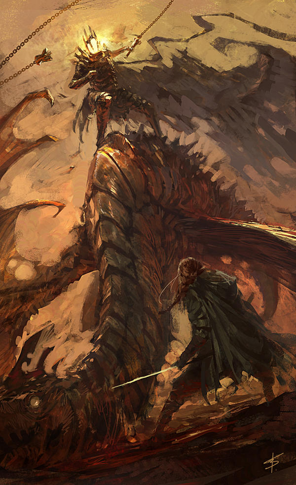 """Eowyn and the Nazgul"" contest by VBagi"