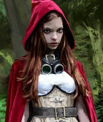 lil' red - portrait practice by VBagi