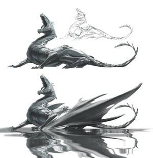 Fishing - dragon WIP