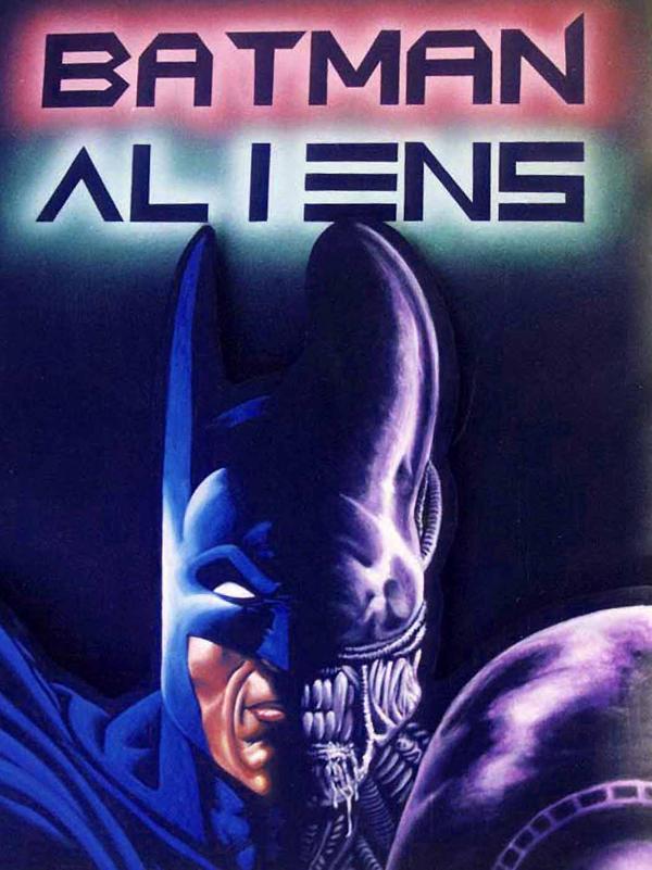batman vs alien by - photo #15
