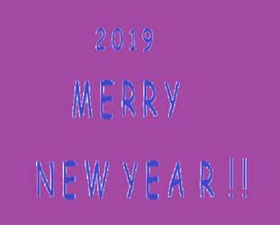 2019    Merry New Year ! ! by DARKZADAR-ZERO