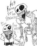 Papyrus And Sans by FloppsyProduction