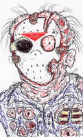 My Latest JASON GOES TO HELL Drawing