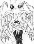 My Latest Portrait Of Cthulhu And H.P. Lovecraft