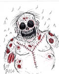 My Fat Zombie Drawing by FloppsyProduction