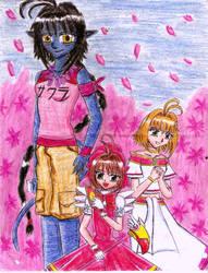 Mga tatlong Sakura by e31