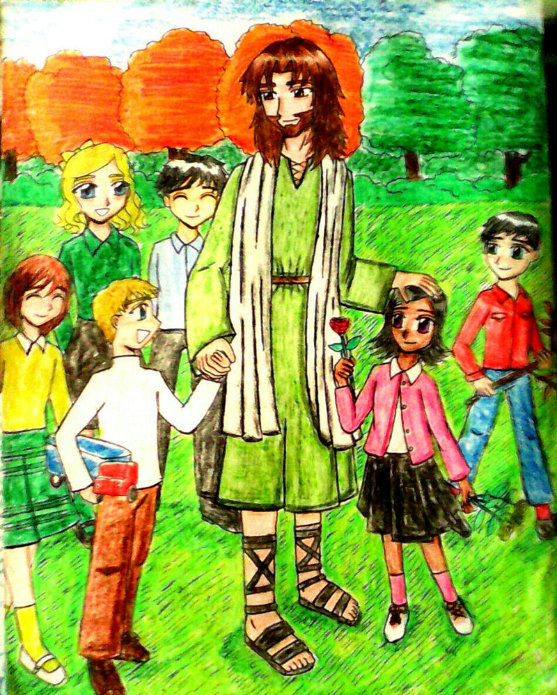 Jesus and the Children by e31
